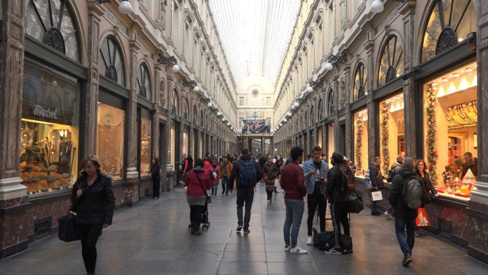 Antica galeries royales di bruxelles costruita nel 1846 e tutta coperta in vetro.