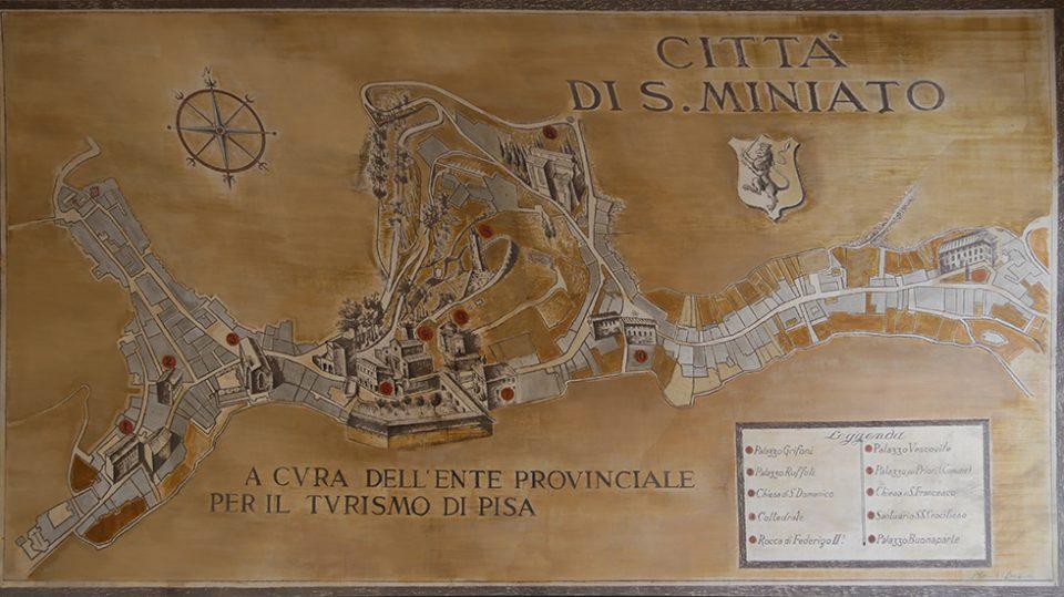 San Miniato e Certaldo - Antica mappa di san Miniato