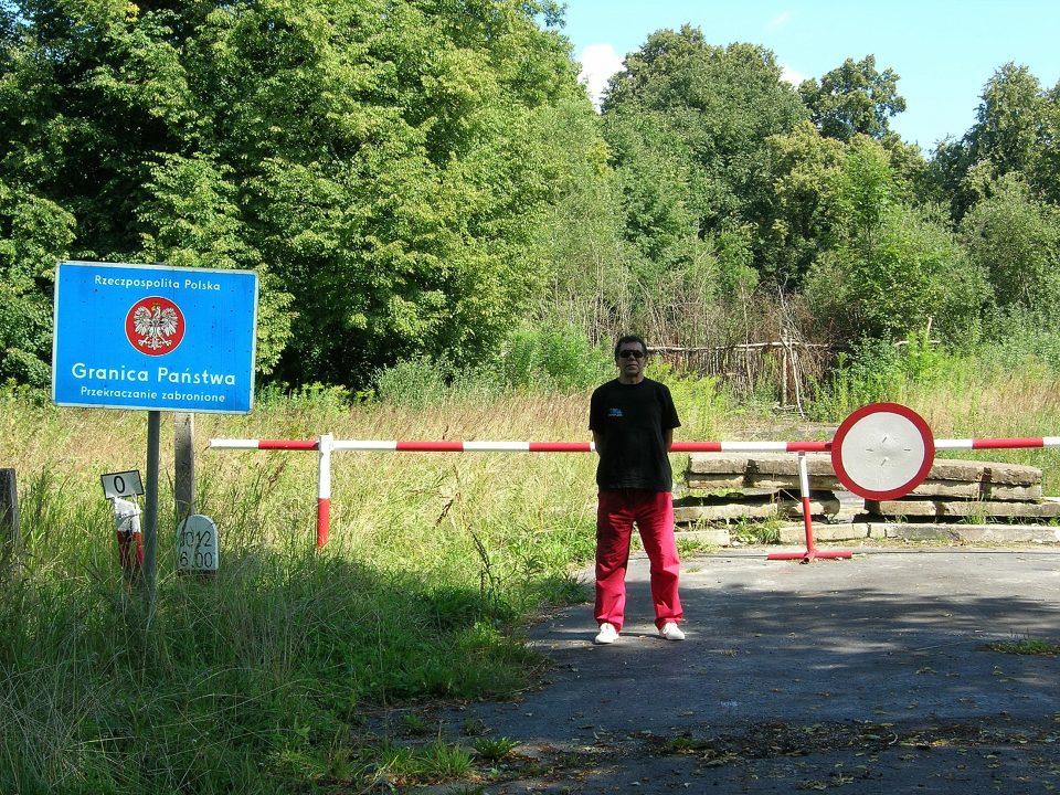 Zywkowo-Barriera di confine tra Polonia e Russia