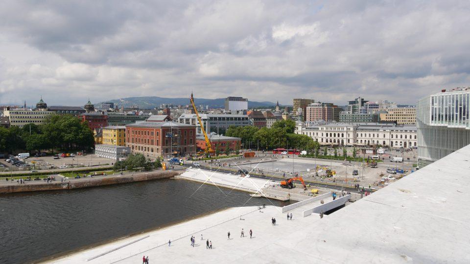 Oslo. Panorama sulla città, visto dal tetto dell'Opera House.
