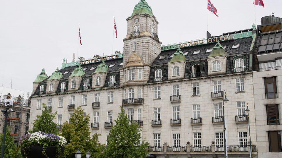 Oslo. Palazzi lungo la Karl Johans, il viale principale della capitale.
