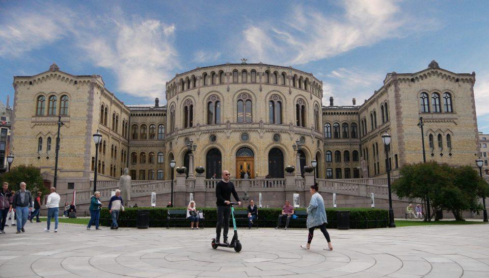 Oslo. Lo STortinget, ovvero il Parlamento Norvegese.