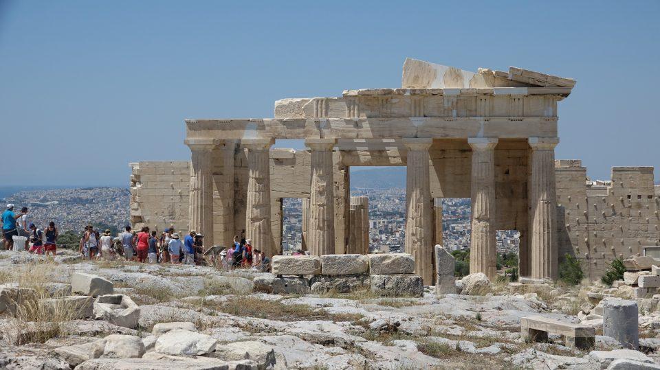 Atene. Acropoli, la sommità della collina.