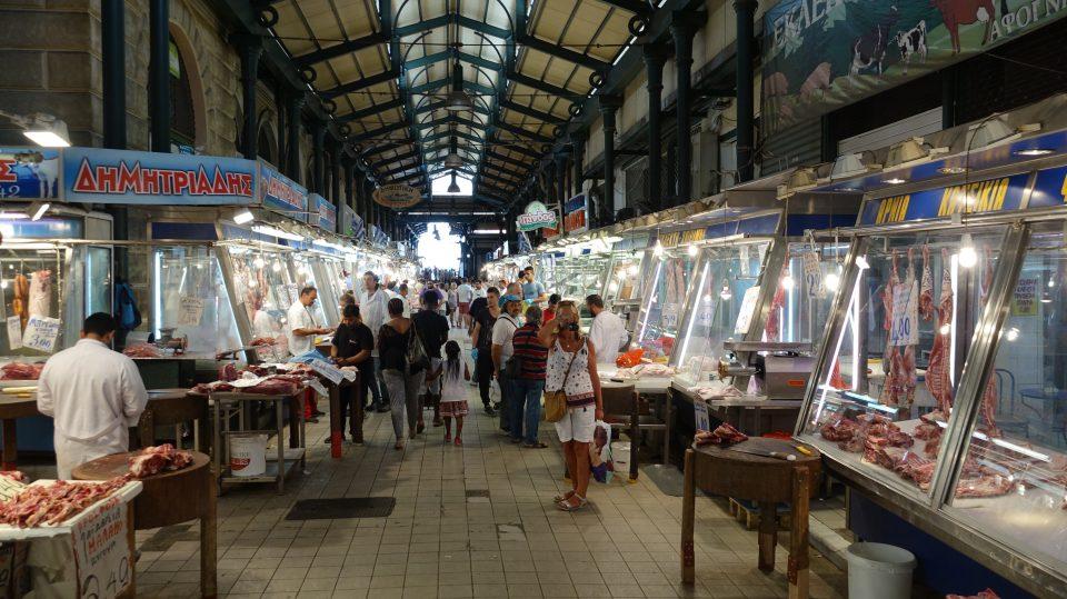 Atene. Mercato Centrale della carne e del pesce.