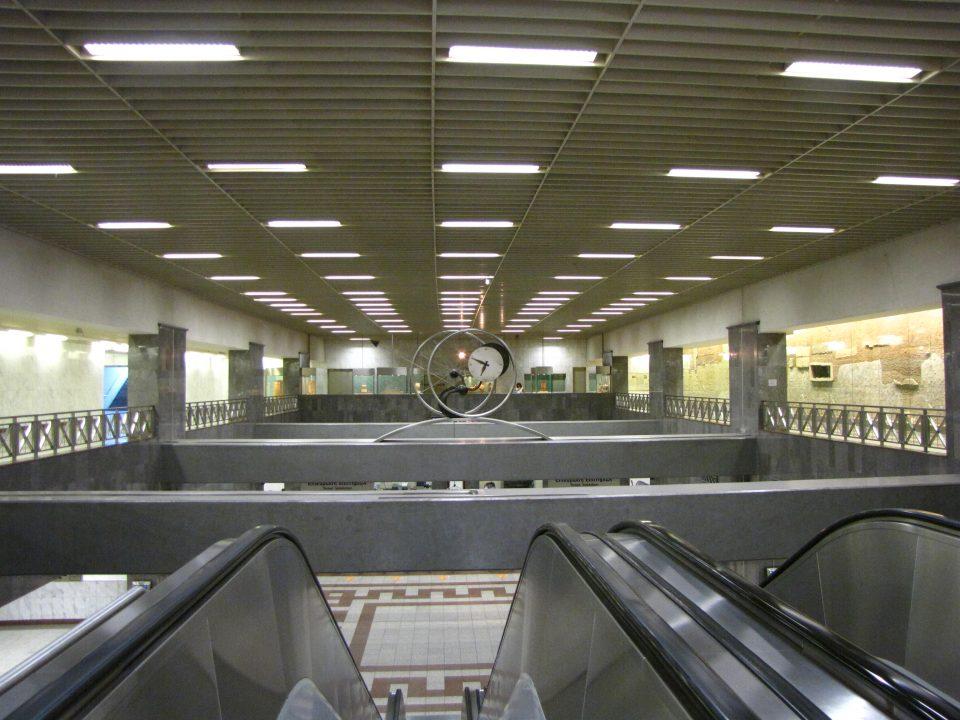 Atene. Altra stazione della metro.