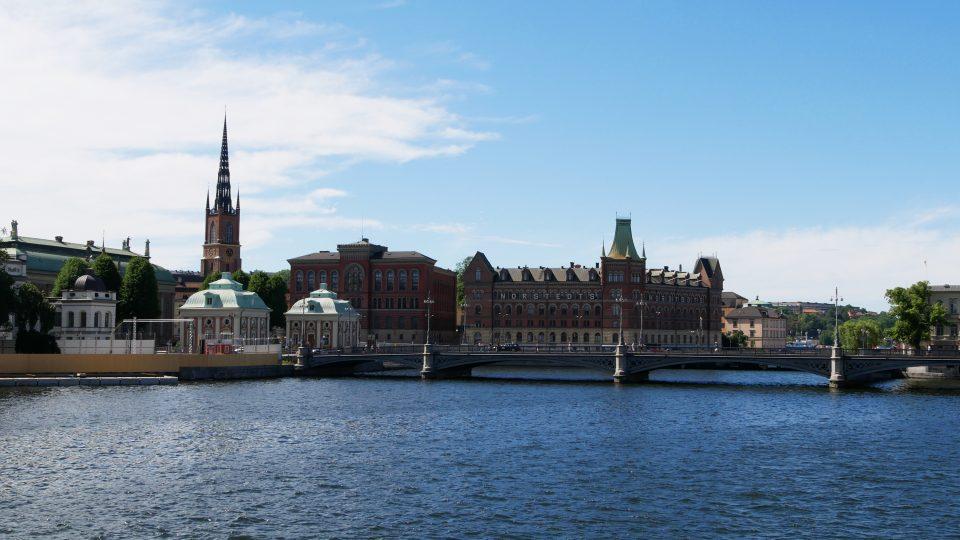 Stoccolma. Panoramica sulla Gamla Stan scattata dal ponticello del Parlamento.