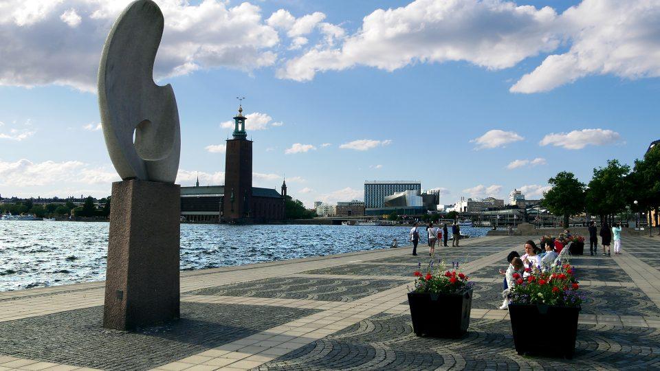 Stoccolma. Ever Taubes Terrass, da dove si ha una bella veduta sul municipio.