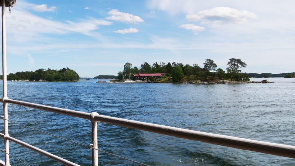 Stoccolma. Veduta sull'arcipelago dal battello.