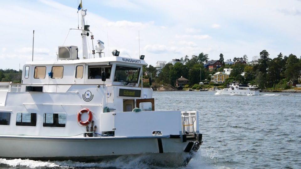 Stoccolma. Traghetto in servizio pubblico.