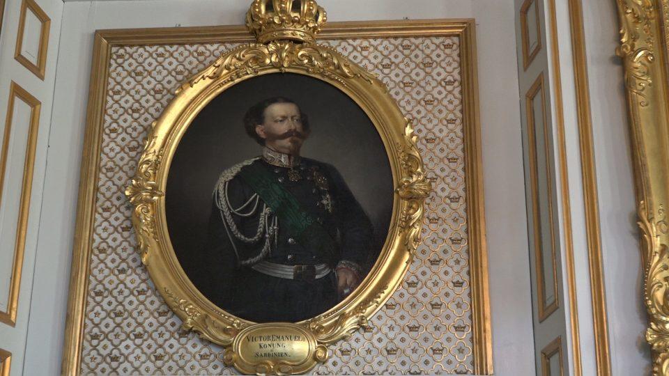 Drottingholm. Dipinto-ritratto di Vittorio Emanuele secondo