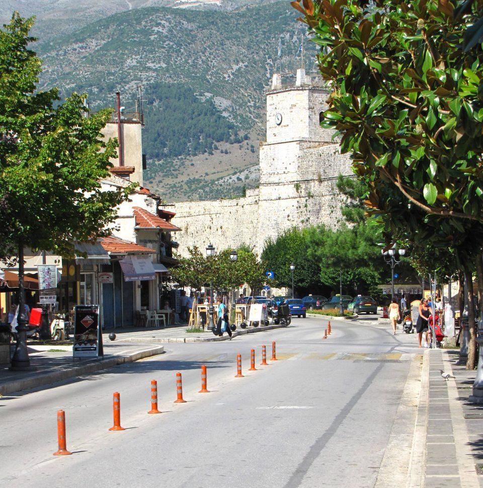 Ioannina. Vista della città fuori dalle mura.