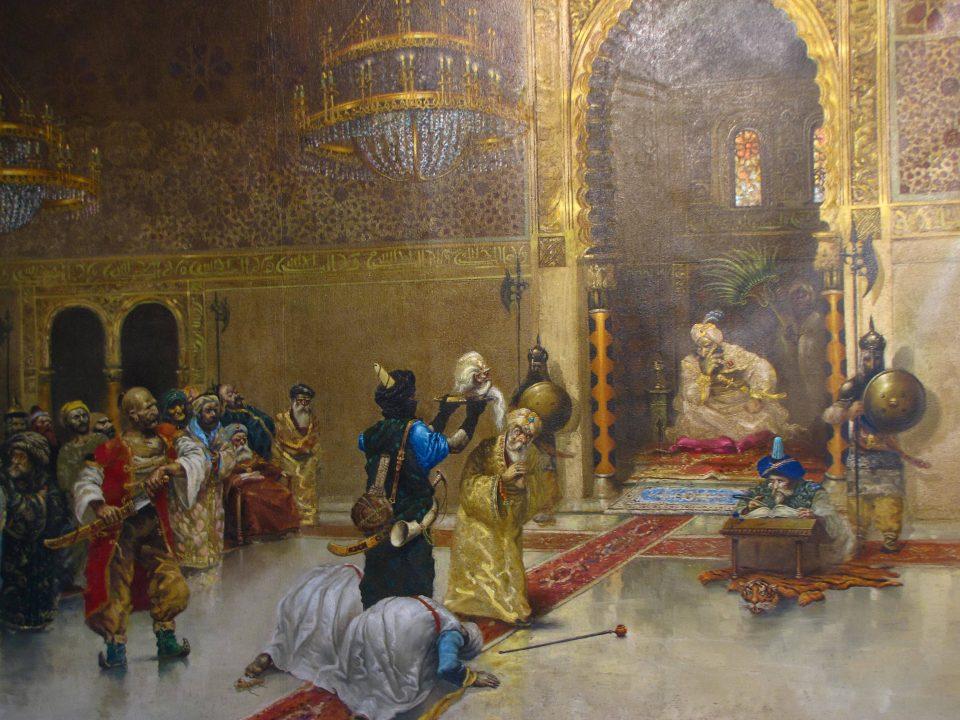 Ioannina. Quadro che rappresenta l'uccisione di Alì Pascià, con la consegna della testa al Sultano.