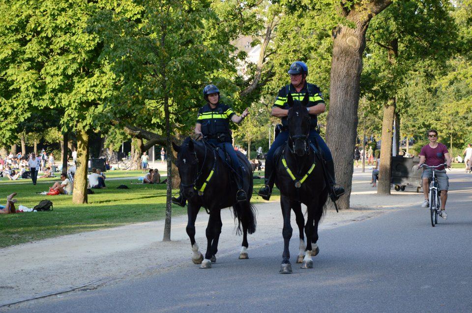 Amsterdam Guardie a cavallo nel Vondelpark