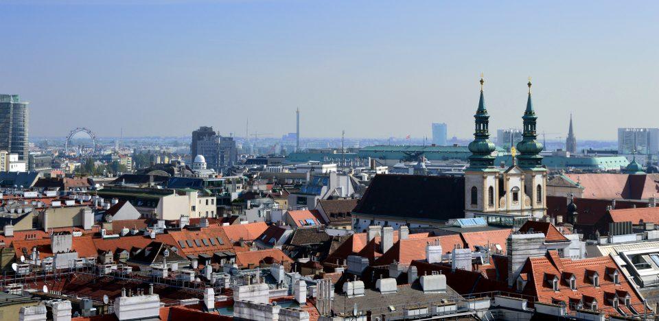 Vienna. Panorama sulla città ripreso dalla torre della Cattedrale.