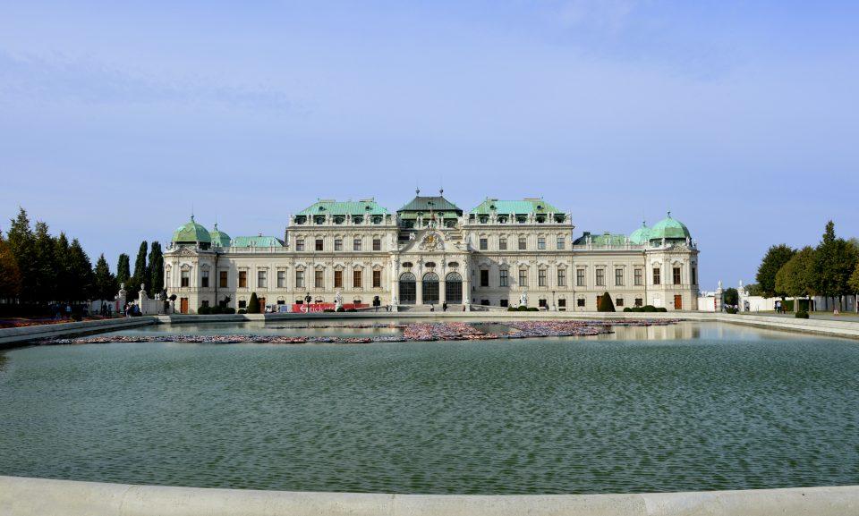 Vienna. Lo stupendo Palazzo del Belvedere.