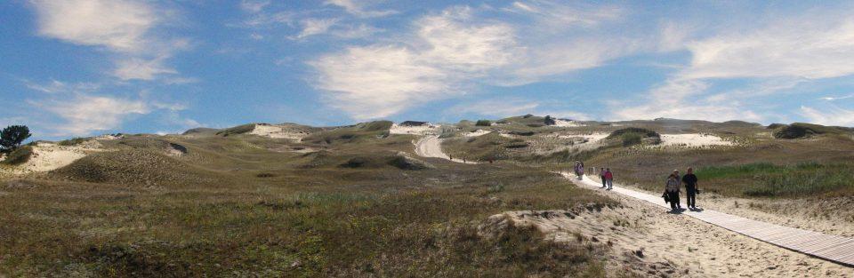 Nida. Panorama caratteristico della penisola di nerinmga nei pressi di nida.