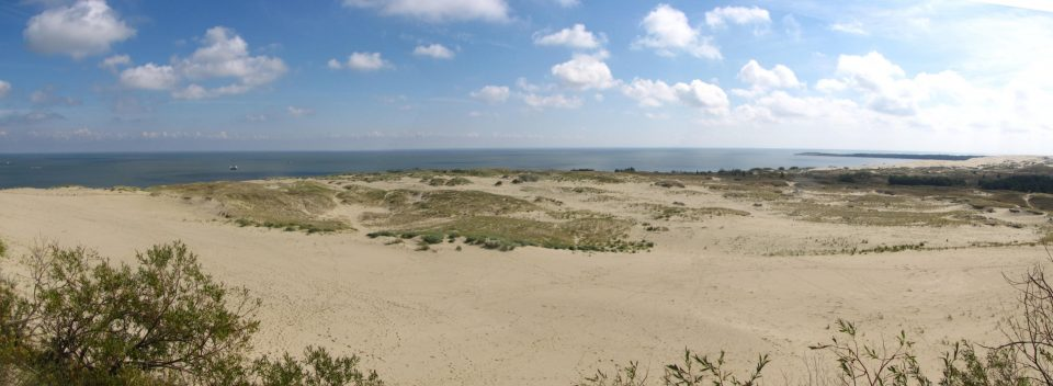 Nida. veduta del Sahara Baltico dalla duna Parnidis.