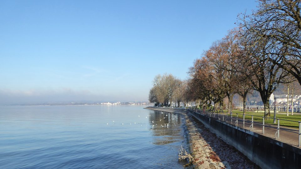 Bregenz. Passeggiata lungo il lago di Costanza.