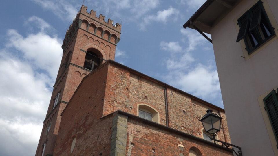 Montecarlo. Chiesa di sant'Andrea con il campanile.