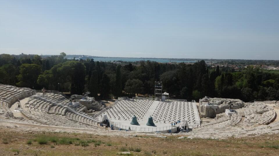 Siracusa. POArco Archeologico della Neapolis. Il teatro Greco.